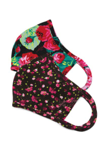 Ditsy Floral Raspberry Two-Pack Print Surgical Masks