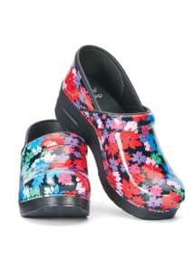 Flowers Patent Leather Nursing Clogs