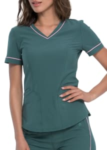 Dickies Retro 2 Pocket V-Neck Scrub Top