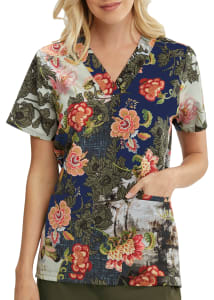 Majestic Blooms V-Neck Print Top
