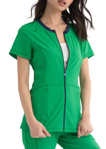 HeartSoul Limited Edition Zip Front Scrub Top