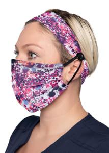 Splatter Floral Print Headband & Mask Set