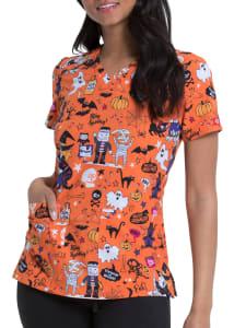 Stay Spooky V-Neck Print Top