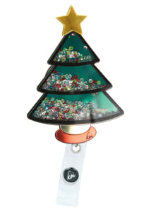 Christmas Tree Shaker Badge Holder