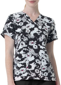 Shadow Bloom V-Neck Print Top