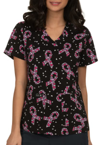 BCA Butterfly V-Neck Print Top