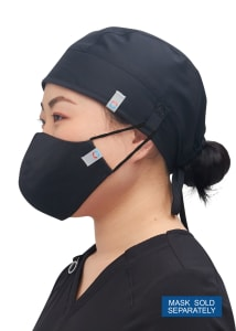 Antimicrobial Skull Cap With Snap Tab