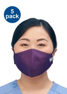 Set of 5 Antimicrobial 3-Layer Face Mask with Pouch