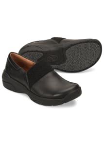 Cally Black Slip Resistant Slip On Shoes
