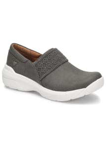 Cally Grey Linen Slip Resistant Slip On Shoes
