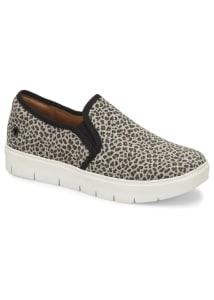 Adela Gray Leopard Slip On Shoes