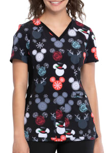 That's Snow Mickey V-Neck Print Top