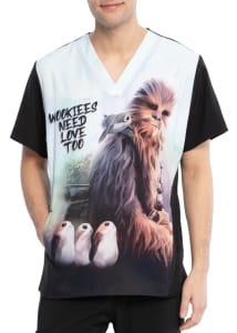 Chewie Men's V-Neck Print Top