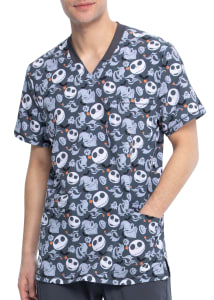 Boogie With Jack Men's V-Neck Print Top