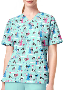Hello There V-Neck Print Top