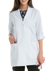 31 Inch 3/4 Roll Tab Sleeve Lab Coat