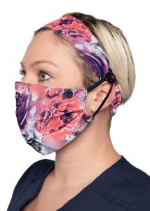 Rose Frost Print Headband & Mask Set