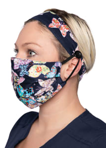 Scrapbook Print Headband & Mask Set