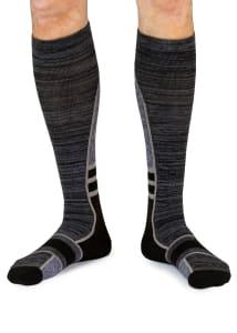 Men's Grey Stripe 8-15mmHg Compression Socks