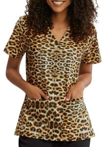 Cheetah Cat V-Neck Print Top