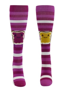 Foodie Friends Peanut Butter & Jelly 12-14mmHg Compression Socks