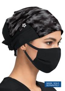 Shiborhi Black Print Scrub Cap