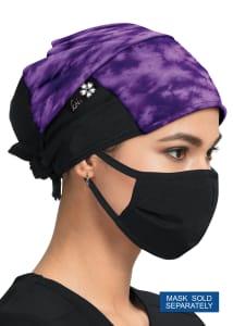 Shiborhi Grape Print Scrub Cap
