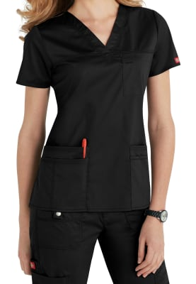 Dickies Gen Flex Women/'s 817455 V-Neck Scrub Top