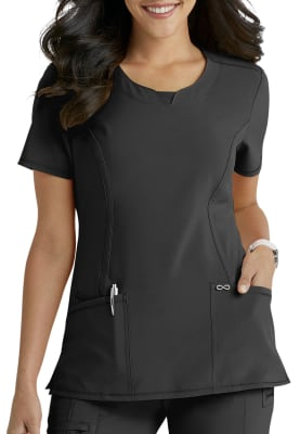 Black Medium Natural Uniforms Womens Warm Up Jacket Plus Sizes Available