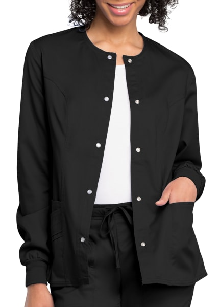 Details about  /Cherokee Women/'s Luxe Snap-Front Warm-Up Jacket Choose SZ//color
