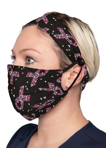 Koi Breast Cancer Awareness Mask Extending Headband and Mask Set