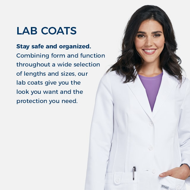 Stay safe and organized with lab coats that combine form and function through a wide selection of lengths and sizes. Get the look you want and the protection you need.