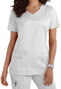 Cherokee Workwear Core Stretch Shaped V-Neck Scrub Top (4727)