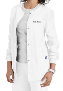 Cherokee Workwear Snap Front Warm-Up Scrub Jacket (4350)