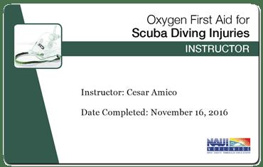 cesar amico - naui oxygen first aid instructor