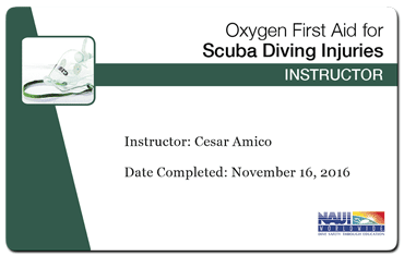cesar amico - naui oxygen first aid instructor