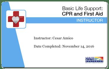 cesar amico naui basic life support instructor