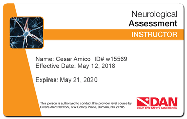 cesar amico - dan neurological assessment instructor