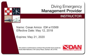 Diving Emergency management provider instructor