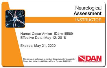 cesar amico - dan neurological assessment instructor