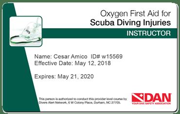 dan oxygen first aid instructor