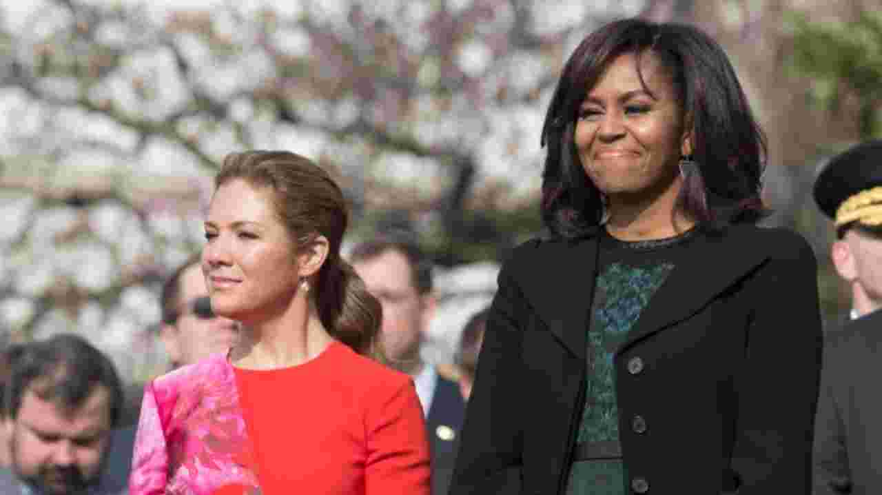 Michelle Obama and Sophie Gregoire Trudeau delight lunch guests at Toronto eatery