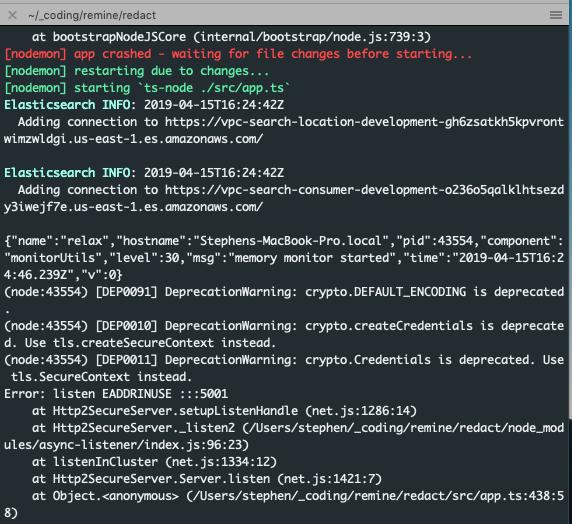 error - port in use