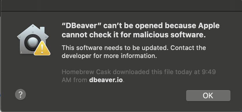 Error: Cannot Be Opened
