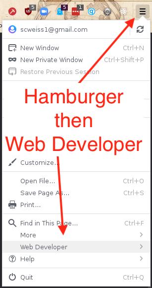 Firefox Hamburger Menu