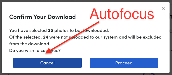 Autofocus Cancel