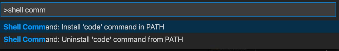 VS Code Command Palette