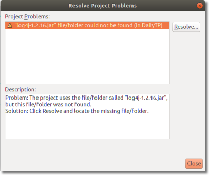 Resolve Project Problems