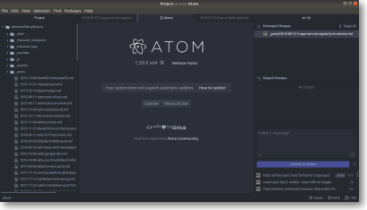 Atom Sample Screen