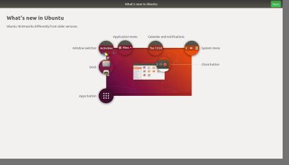 Ubuntu Welcome Screen